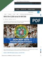 DOH to Hire 15,000 Nurses for NDP 2016 _ InfoNurses