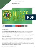 Nurse Deployment Project 2014 - Nurseslabs