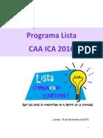 Programa CAA ICA 2016