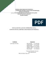 Analisis Vinculacion de La Ley de Cooperativas Con La Constitucion