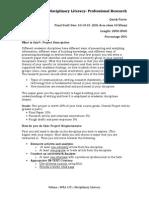 Sample Assignment Description Final