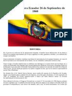 Día de La Bandera Ecuador 26 de Septiembre de 1861