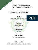 Control de Velocidad Motor a.c
