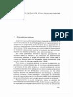 La Puesta en Práctica de Las Política Públicas en, Análisis de Política Pública y Eficacia de La Administración