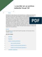 Cómo Leer y Escribir en Un Archivo de Texto Mediante Visual