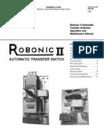 Robonic II Transfer switch