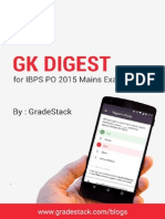 GK Digest for IBPS PO Mains 2015