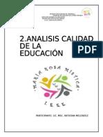 Diagnostico Calidad de La Educacion Final