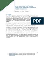 Determinación de Deflexión Por Carga Estática y Deformacion Por Carga Dinámica Aplicando Métodos de Energía (1)