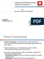 Cloud Services in Openstack