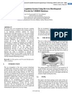 Design of Iris Recognition System Using Reverse Biorthogonal  Wavelet for UBIRIS Database