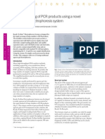 Rapid Screening of PCR Products Using a Novel Agarose Gel Electrophoresis System (From Life Science News, Issue 6)