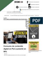 Clases de Periodismo, Consumo de Contenido Digital en Perú Aumentó en 50%