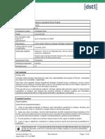 DSTL Job Profile 22976