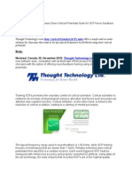 Thought Technology Releases Slow Cortical Potentials Suite for SCP Neuro feedback Training