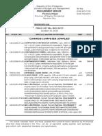 Price List Oct 2015