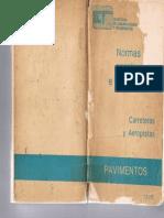 Normas Para Construccion e Instalaciones - Carreteras y Aeropistas - PAVIMENTOS