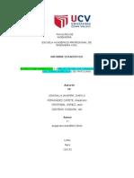 informe estadistico, estructura hidraulica