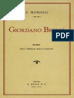 Morselli, Enrico - Giordano Bruno