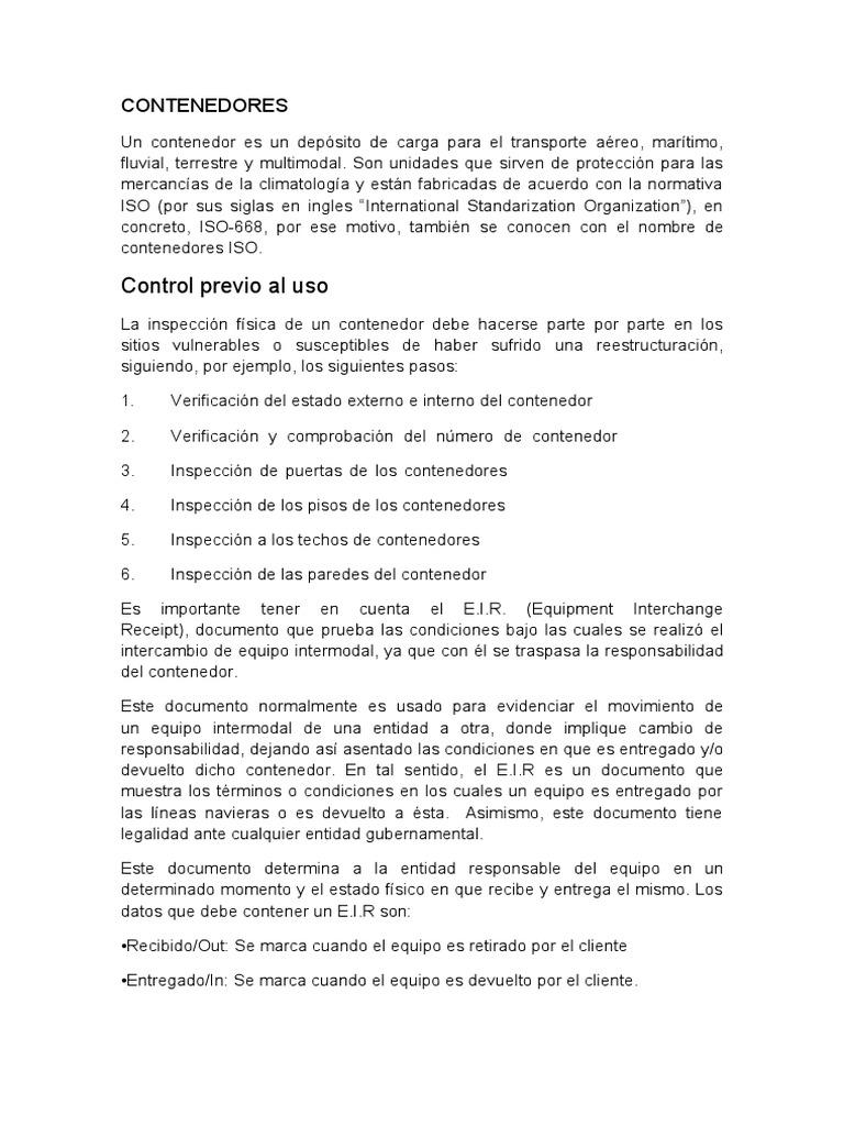 CONTENEDORES resumen