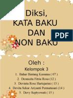 Presentasi Kata Baku Dan Non Baku