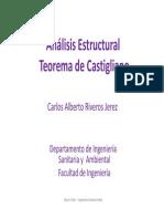 ANÁLISIS ESTRUCTURAL, Teorema Castigliano