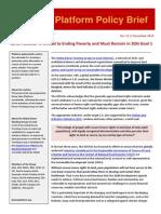 GDWGL Policy Brief No 12 Land Indicator under SDG1