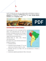 El Virreinato en El Peru
