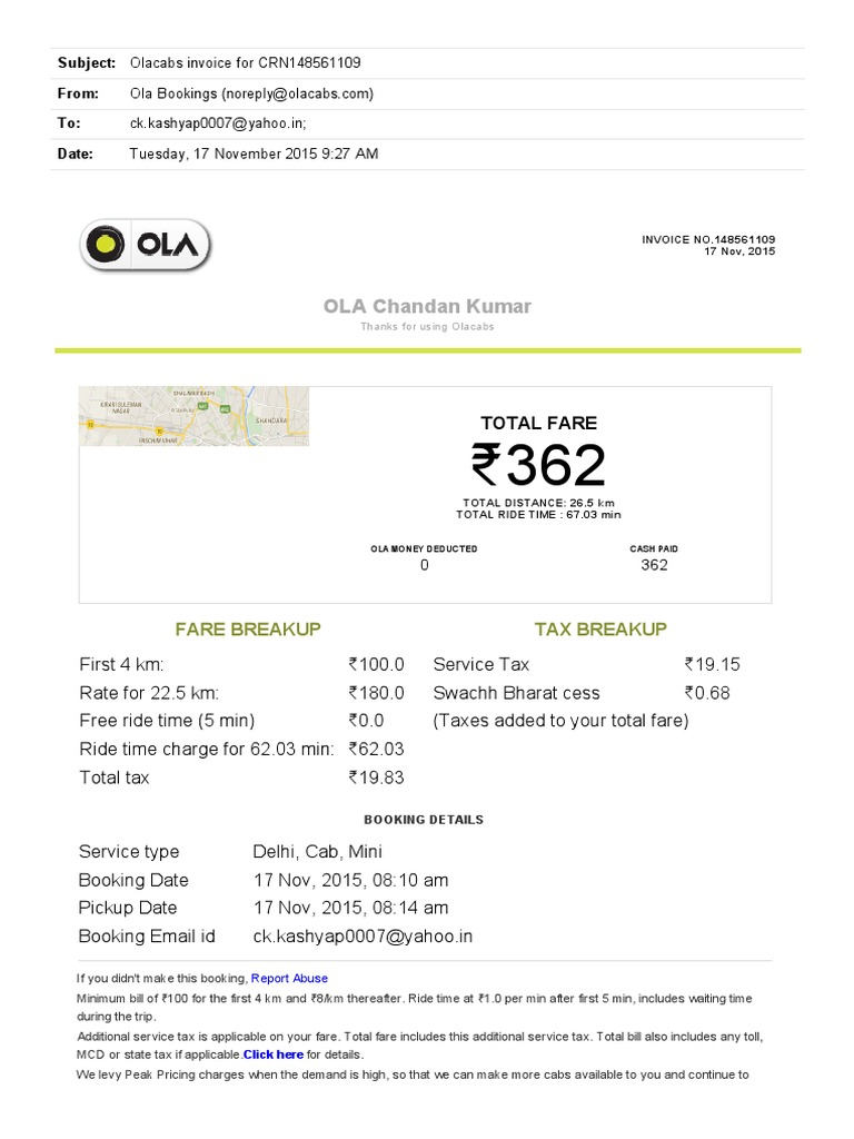 Ola document template choice image templates design ideas ola cab bill format in monthly report format ola cabs receipt report cover page templates free pronofoot35fo Gallery