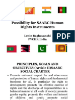Possibility for SAARC Human Rights Instruments