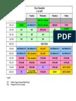 1 Agape Timetable