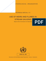 Use of Weir and Flames for Stream Gauging