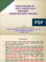 Paparan UU Nomor 5 Tahun 2014 Tentang ASN-Kejaksaan-05!03!2014