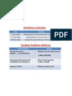 RDX Activities Calendar