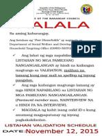 List of Poor Households Notice 2