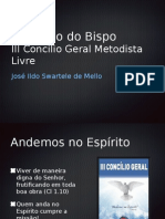 Relatório do Bispo Ildo ao III Concílio Geral