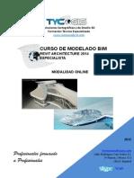 Indice Curso Online de Revit Archiecture Autodesk Especialista