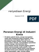 2. Penyediaan Energi