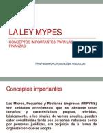 La Ley Mypes y Finanzas