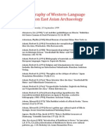 Bibliography of Western-Language Works on East Asian Archaeology