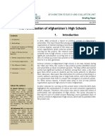 The Politicisation of High Schools in Afghanistan