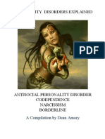Personality Disorders - Narcissism - Borderline - Codependence