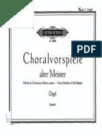 Choralvorspiele Alter Meister (Straube, Karl)