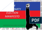 2014 SWAPO PARTY ELECTION MANIFESTO