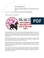 2015 Feng Shui Horoscope Forecast