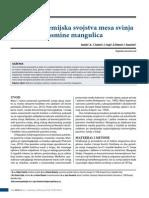 Fizičko hemijske karakteristike mesa mangulice