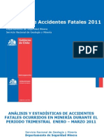 Accidentes Fatales 2011 SEGMIN (1er Trimestre)