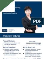 IMA Servant Leadership Webinar
