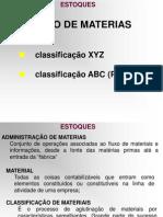 Aula Estoques Classif ABC