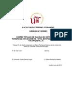 COSTES TOTALES DE CALIDAD EN ACTIVIDADES TURÍSTICAS
